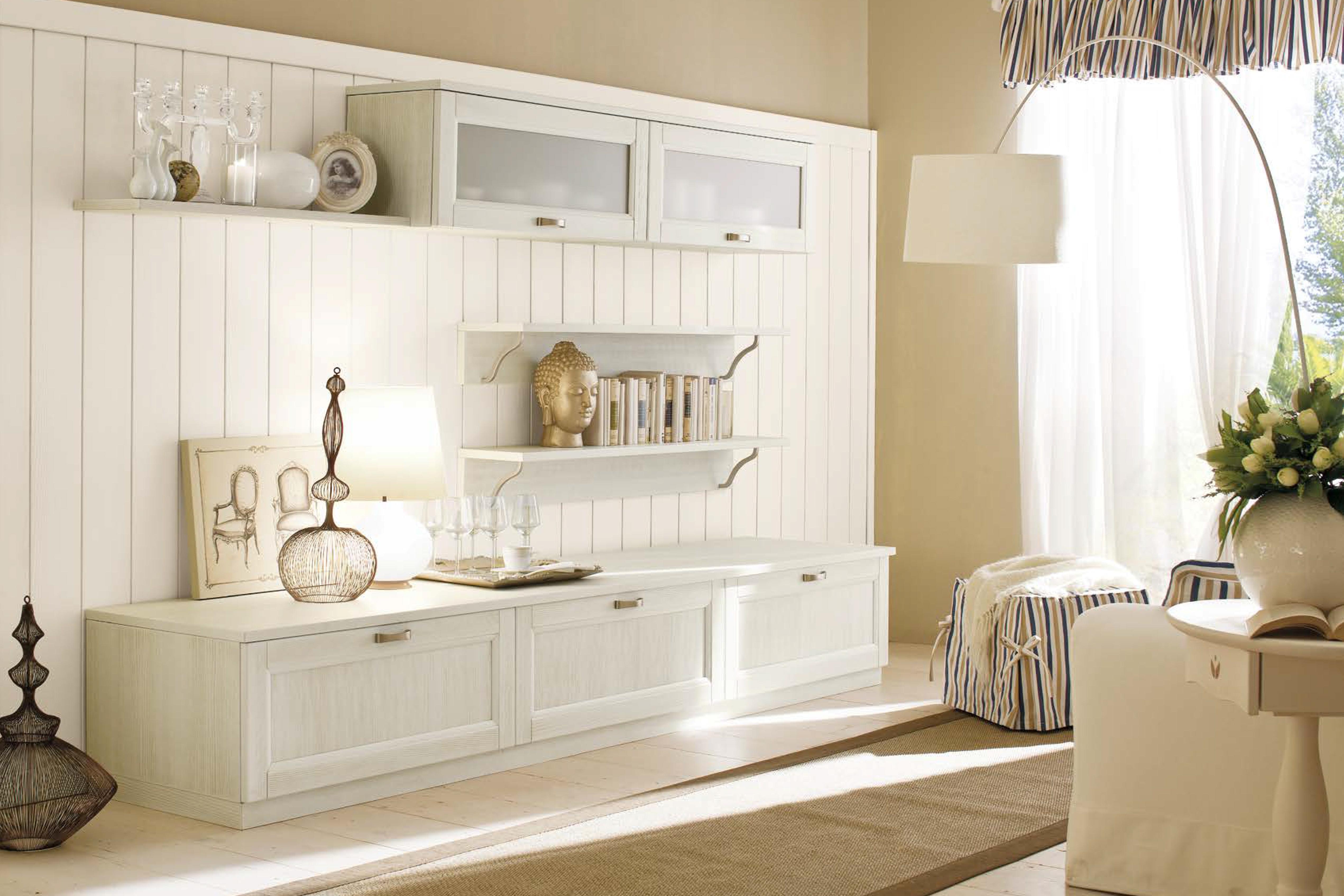 Parete attrezzata libreria living room soggiorno 4a arreda for Parete attrezzata living