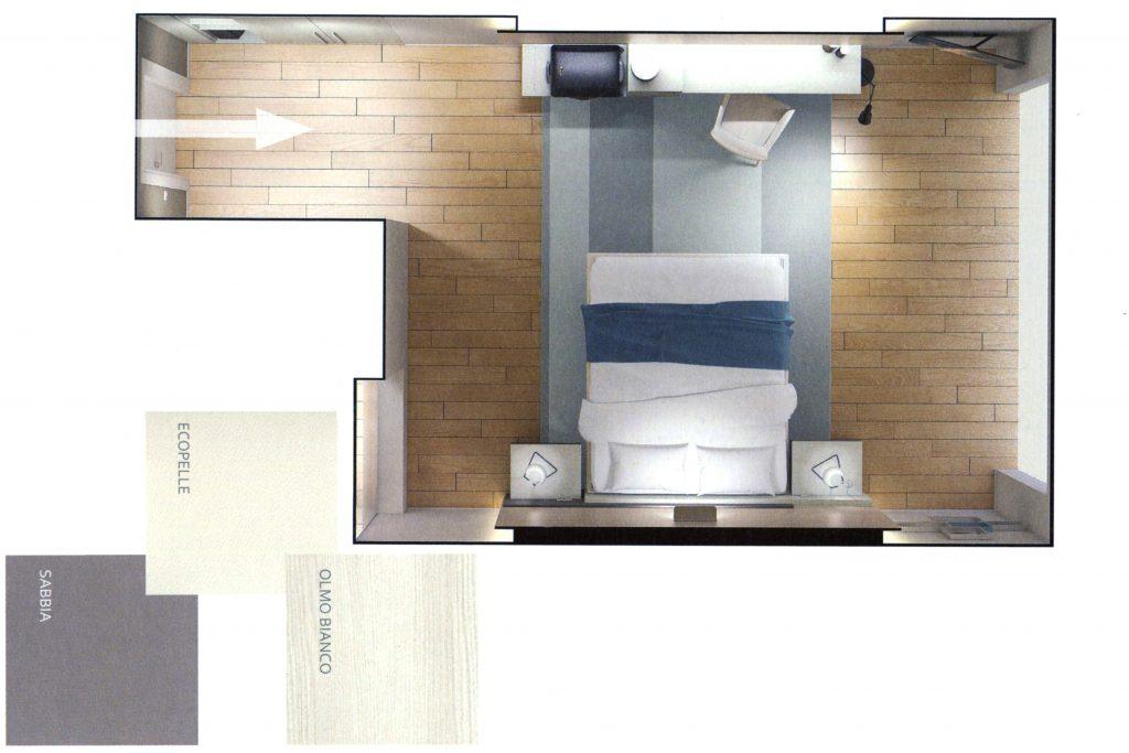 render fotografico per progettazione camera da letto su misura by 4A ...