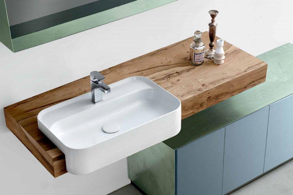 Arredo bagno legno rovere anselmini architetto dinterni interior