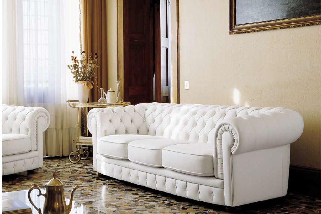 Salotto Bianco In Pelle.Divano Salotto Chesterfield Capitonne Pelle Ecopelle Tessuto