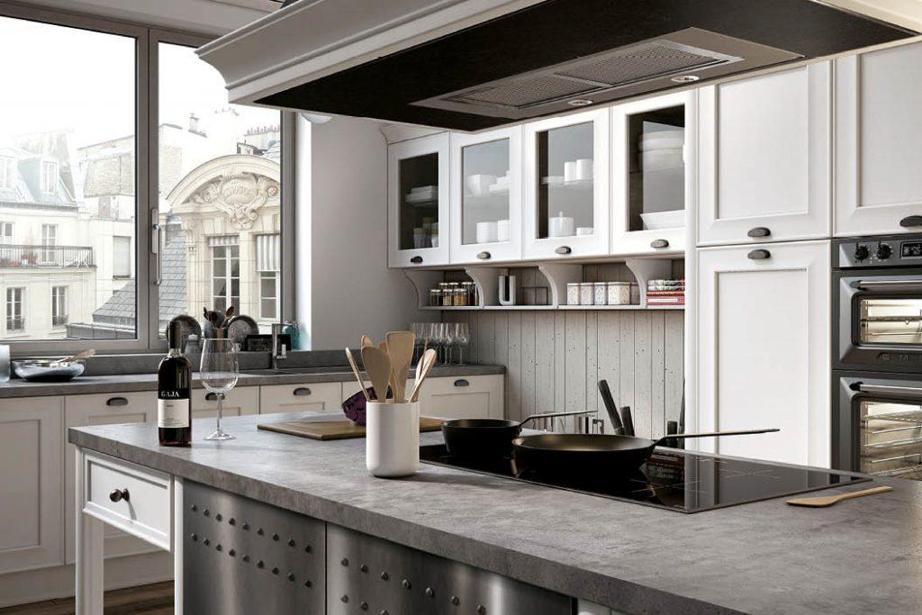 cucina classica su misura laccata bianca Brescia e provincia ...