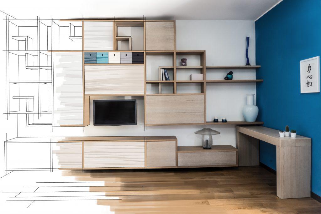 architettura interni Anselmini interior design studio e falegnameria mobilificio 4A di Anselmini arredamenti su misura